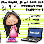 Pas souvent sur Facebook by Myria-Moon by Myria-Moon