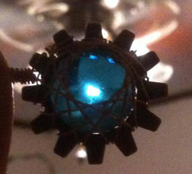 Glass Steampunk Pendant by gondring