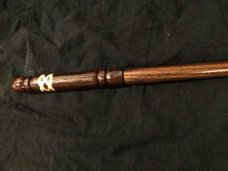 Walnut Celtic Inlay Wand by gondring