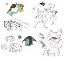 pokemon sketches by celdragon