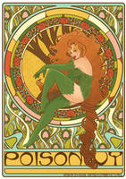 Poison Ivy art nouveau colored by RaquelArtQ