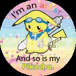 My Pikachu is an Artist. by hajimikimo