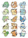 Starter Pokemon - Gens 1-5 by hajimikimo