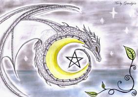 Magical Dragon Moon by Gewalgon