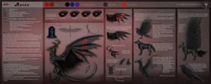 Ref Sheet - Aurun the demon by Gewalgon