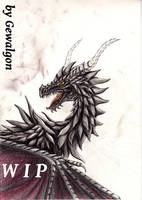 WIP: Ifrion - The Chaos Wyvern by Gewalgon