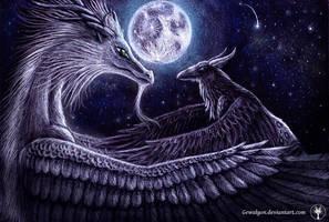 Fullmoon embrace ~ by Gewalgon