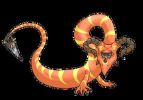 Cyclopian Dragon by silhouette345