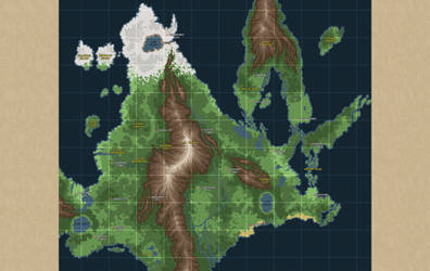Map of Sinnoh by corycatte
