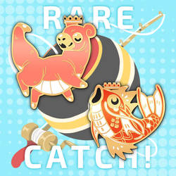 Rare Catch Enamel Pin Preorders! by corycatte