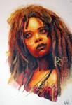 Tia Dalma -watercolor by FalyneVarger