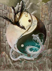 Yin Yang Dragons by FalyneVarger