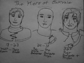 Oakvales hero throughout the years by DeejahThoris