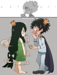 The Deku and the Frog by Akeemi-chan