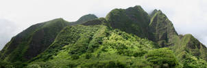Iao Valley Hills Panorama by sean335