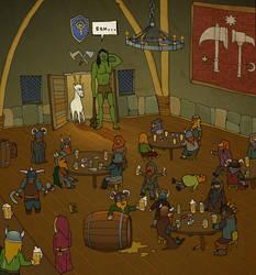 Dwarf tavern by exarion-cz
