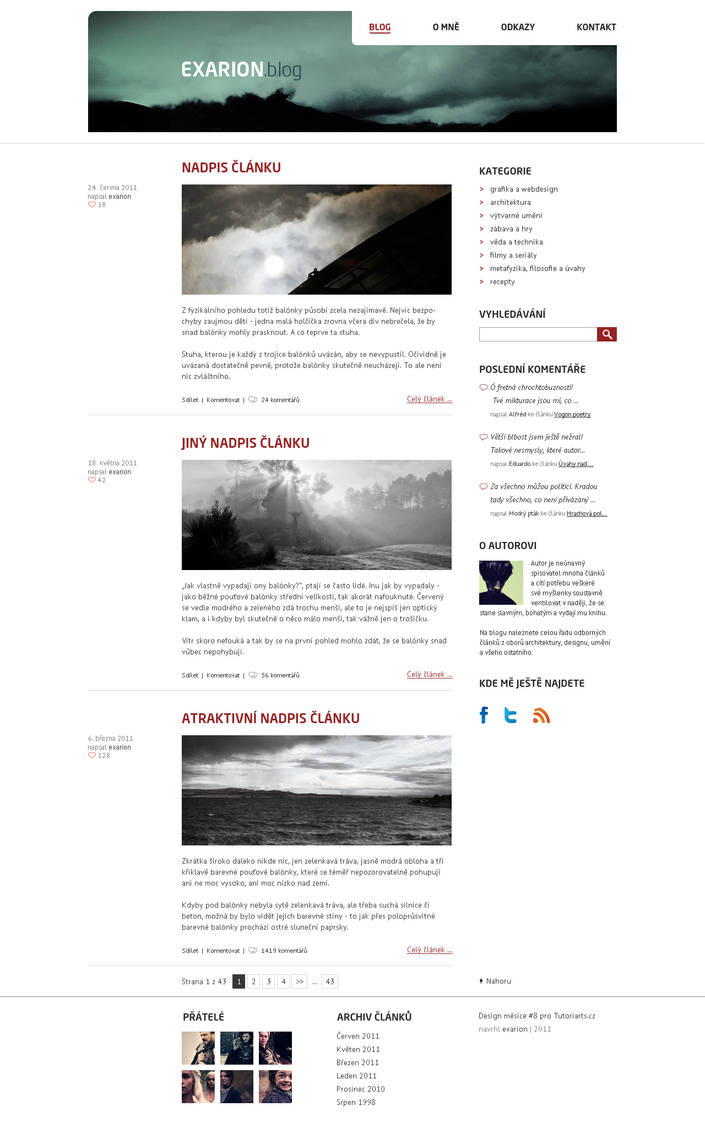 Blog design by exarion-cz