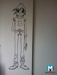 Wall paint - Gorillaz 2D by Marsovski