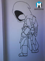 Assassins Creed Chibi - Wall paint by Marsovski