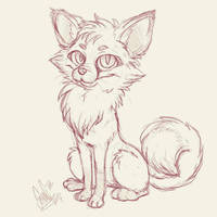 little fox doodle by SpankTB