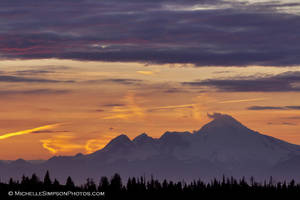 Illiamna Sunset 1 by MSimpsonPhotos