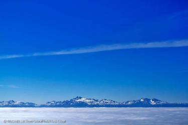 Fog Over Kachemak Bay by MSimpsonPhotos