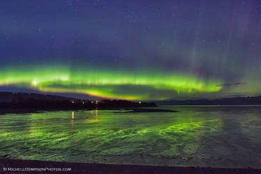 Mud Bay Aurora by MSimpsonPhotos
