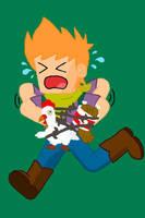 Matt's Feathery Problem(Chicken Wrangler Zombie) by Baron-Crashalot