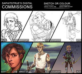 UPDATE: Digital COMMISSIONS! [OPEN] by Saphitstrue
