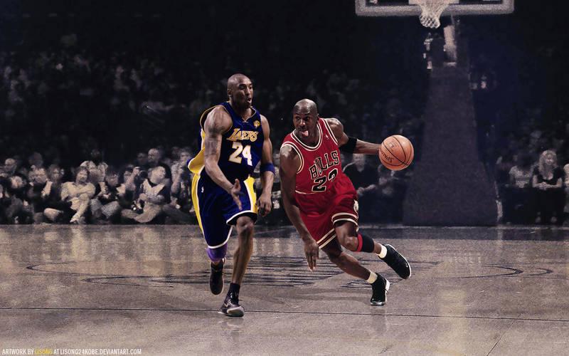 Kobe Bryant Vs Michael Jordan Wallpaper By Lisong24kobe On Deviantart