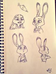 Judy Hopps - Zootopia doodles by Nijiro-no
