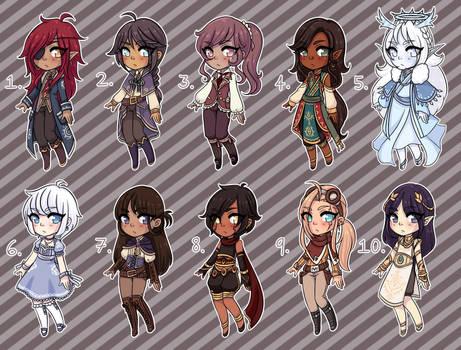 [Closed] Fantasy Adopts 4 by princesawyer