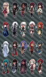 [Open 4/20] Fantasy Adopts 25 by princesawyer