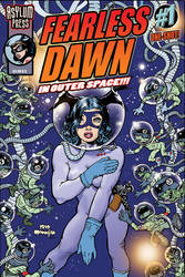 Asylum Press FEARLESS DAWN in OUTER SPACE Cover by rattlesnapper