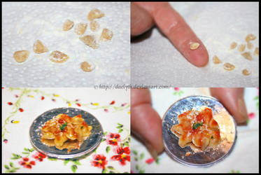 Real micro ravioli - miniature food by Daelyth