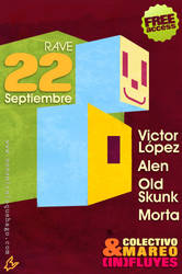 flyer rave madrid by luengo