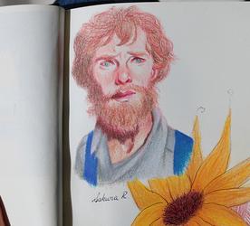 Benedict as Van Gogh by Axowen