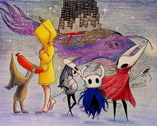 Star whale Little nightmares Hollow knight by Axowen