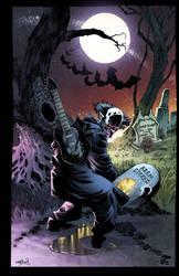 Varney the Vampire poster commission by romulofajardojr