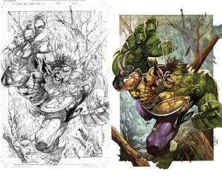 Wolvie vs Hulky by romulofajardojr