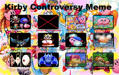 Kirby Controversy Meme by CharmeleonGirl46