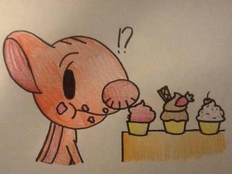 TMMS: Cupcake Addict (animal form) by TigeressBird324