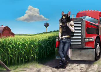 Country Dog by FuzzleMint