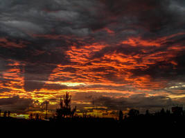Sunset from my window by Limeniks