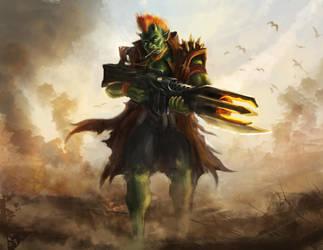 Troll Soldier Guy by feenixfabay