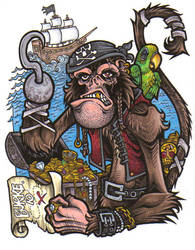 Pirate Monkey by Burke73