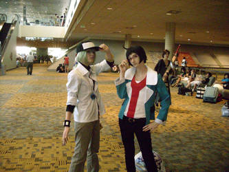 N and Cheren Otakon 54 by yukiro333