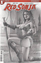 Red Sonja Blank Cover Commission by Zeleznik