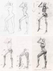 Standing Lady Anatomy Study by Zeleznik