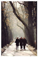 the three autumn friends by Gonzale